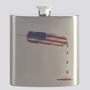 Eagle Feather Flag Flask